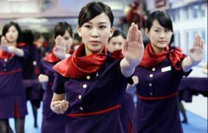 Hong Kong flight attendants learn how to kick butt
