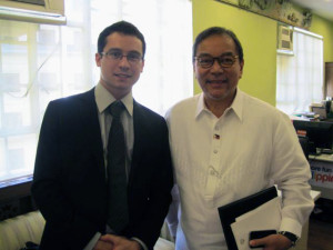 Justin and DOT Sec Ramon Jimenez
