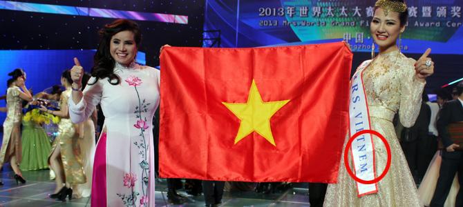 Vietnam beauty queen misspells country's name